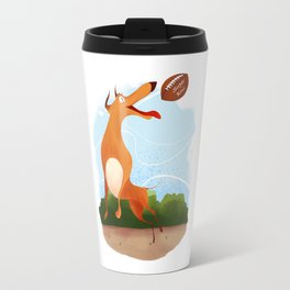 Footballer dog Travel Mug