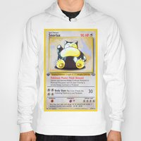 snorlax Hoodies featuring Snorlax Card by Neon Monsters