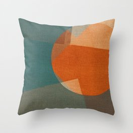 Rusty Sun Throw Pillow