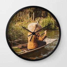 Vivid scene in Burma Wall Clock