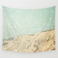 west coast Wall Tapestries featuring West Coast 2 by Sylvia C