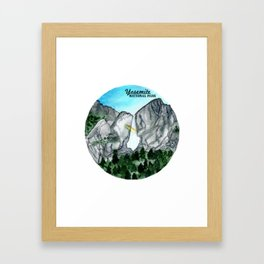 Yosemite National Park Watercolor Framed Art Print