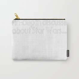 Girls Just Wanna (White Text) T-Shirt Carry-All Pouch