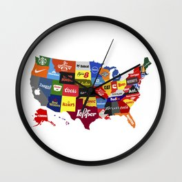 The Corporate States of America Wall Clock
