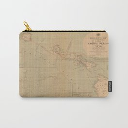 Hawaii Postal Route Map 1908 Carry-All Pouch