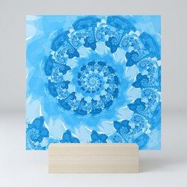 Endless Ocean Blue Spiral Mini Art Print