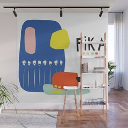 Fika Collage Wall Mural