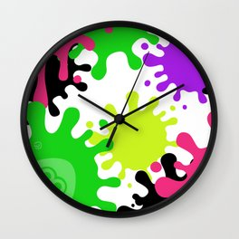 Splatoon Fans Collection - Light Ink Wall Clock