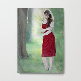 The Angel in Red Metal Print