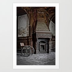 lost fireplace Art Print