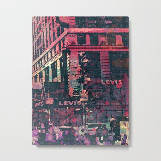 street of new york3 Metal Print