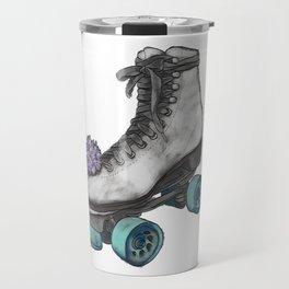 Roller Skate on White Travel Mug