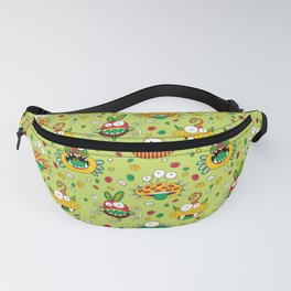 Monster Mash Green Fanny Pack