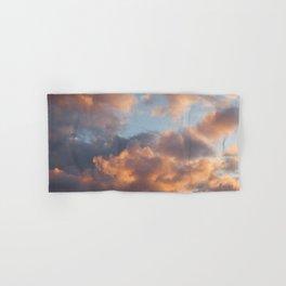 Peach Clouds Hand & Bath Towel