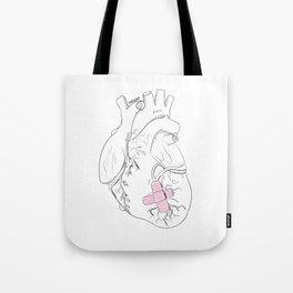 Hurting Heart Tote Bag