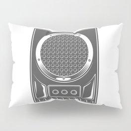 Vintage music concert audio loudspeaker in monochrome style illustration Pillow Sham