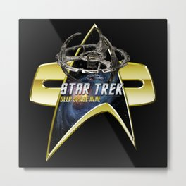 StarTrek Deep Space Nine  Com badge Metal Print