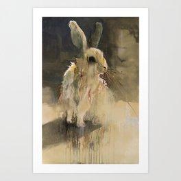 Undead Rabbit Art Print