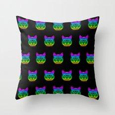 Geek Cats Throw Pillow