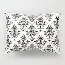 Damask Pattern | Black and White Pillow Sham