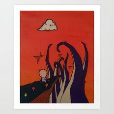 Tentacle Attack Art Print
