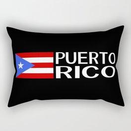 Puerto Rico: Puerto Rican Flag & Puerto Rico Rectangular Pillow