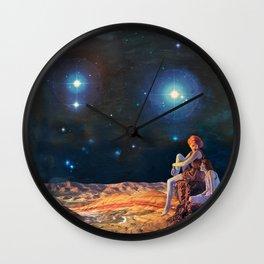 Saturn Gazers Wall Clock