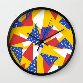 90's Triangles and Squiggles Wall Clock