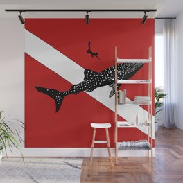 DIVER DOWN - whale shark dive Wall Mural