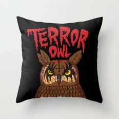 Terror Owl Throw Pillow