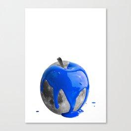 Apple moon blue Canvas Print