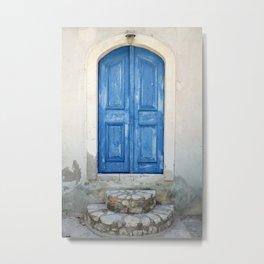 Greek Door Series No. 1 Metal Print