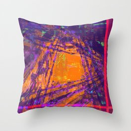 Corrupted Factory Throw Pillow