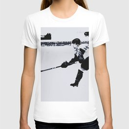 He shoots, He scores! - Hockey Player T-shirt