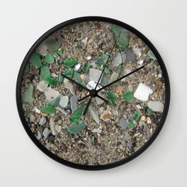 Rolling Rock sea glass Wall Clock