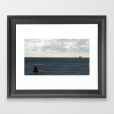 from the mainland (Westkapelle) Framed Art Print