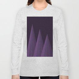Geometric Purple Long Sleeve T-shirt