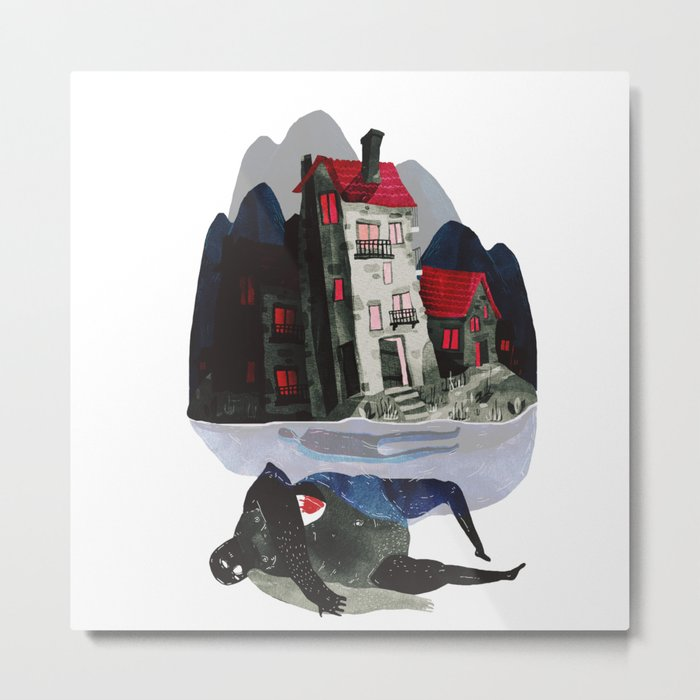 the house above Metal Print