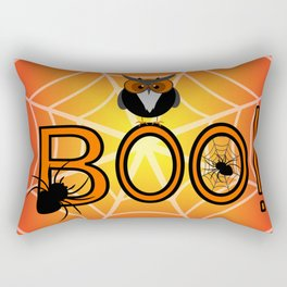 Boo, says the owl. It's Halloween! Rectangular Pillow