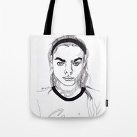 bambi Tote Bags featuring Bambi by ☿ cactei ☿