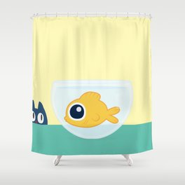In the waiting line... Shower Curtain
