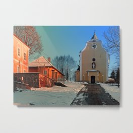 The village church of Berg bei Rohrbach I | architectural photography Metal Print