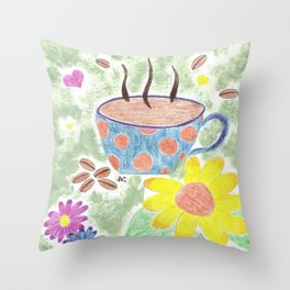 Strong cup of coffee Throw Pillow