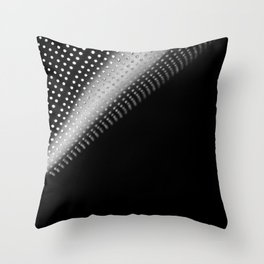 Abstract black and white fine art print / Minimal colander dots Throw Pillow