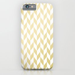 Geometrical elegant abstract gold white pattern iPhone Case