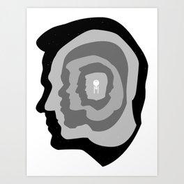Star Trek Head Silhouettes Art Print
