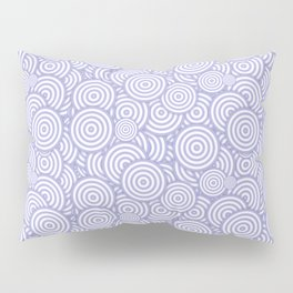 Purple Circles Concentric Polygons Pillow Sham