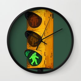 Bigfoot Crossing Wall Clock
