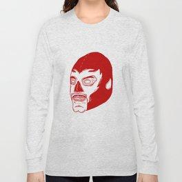 Red Luchador Long Sleeve T-shirt