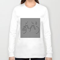 bicycle Long Sleeve T-shirts featuring Bicycle by AndISky